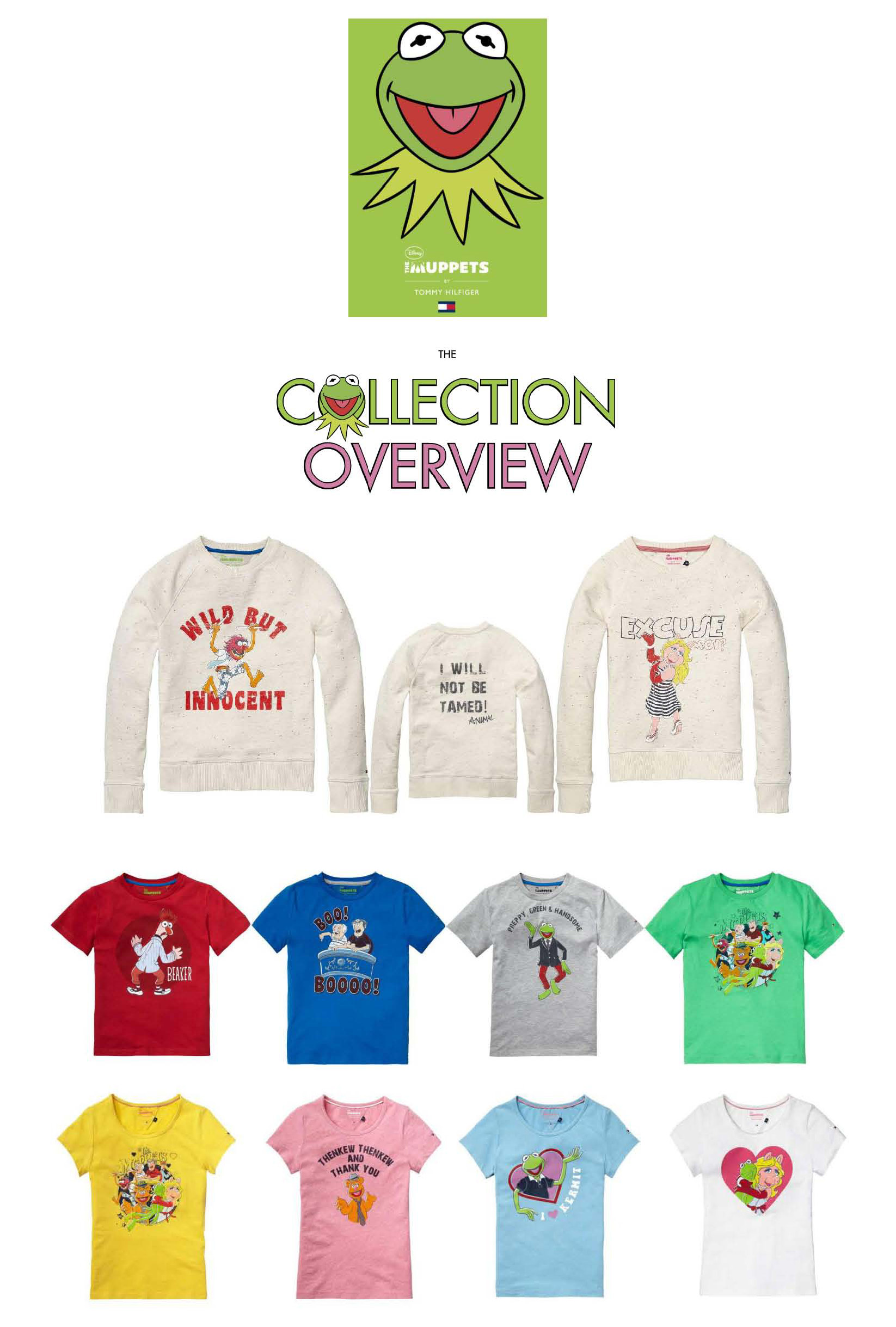 c57b7509 Muppets. Prices between €34.90 and €64.90. Now available on Tommy.com or in  store