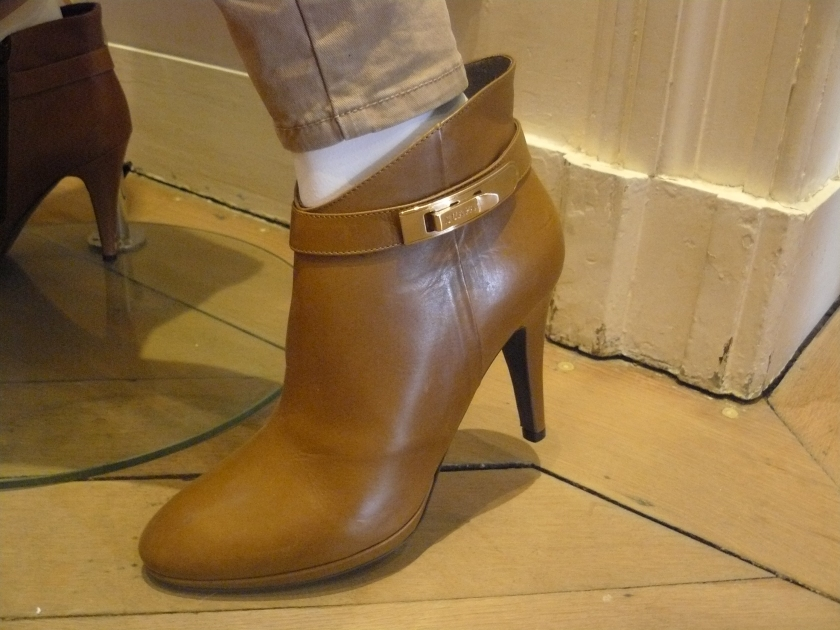 Very much enarmoured with these booties.  Cognac coloured perfection!